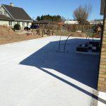 Støbning af fundament til tilbygning på hus i Svendborg